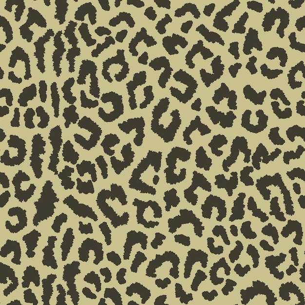 Seamless pattern with leopard spots Premium Vector