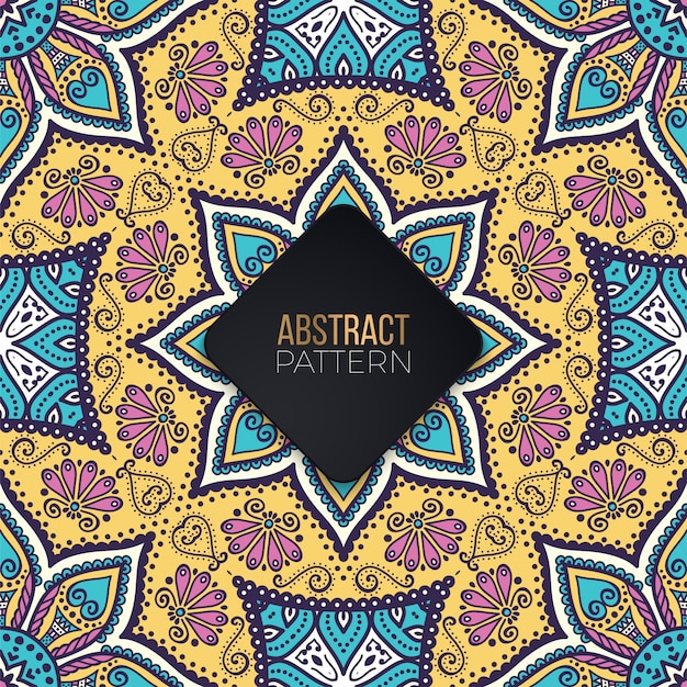 Seamless pattern with mandala Premium Vector