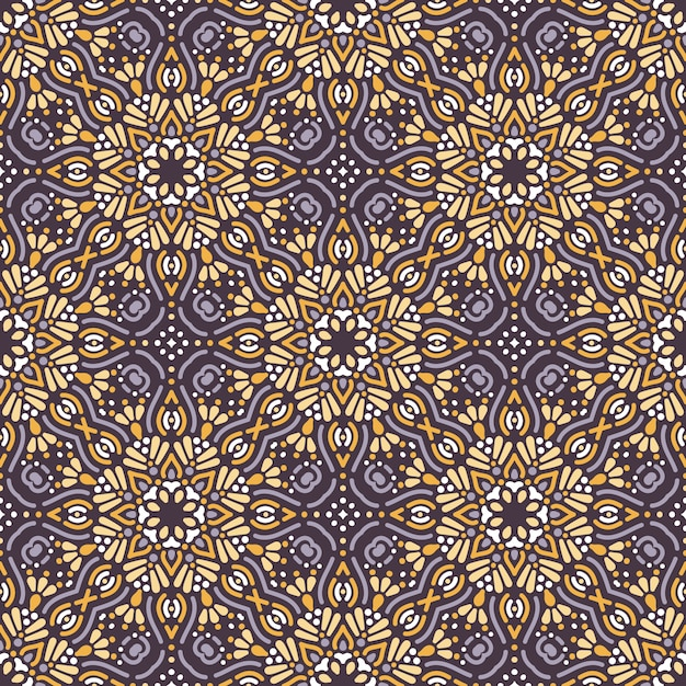 Seamless pattern with mandala Free Vector