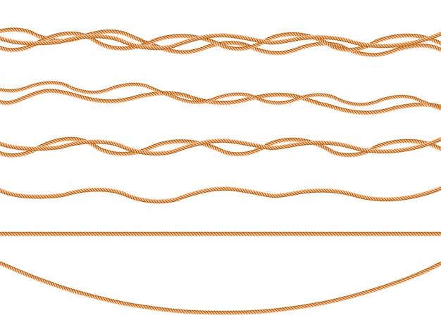 Seamless pattern with marine rope knots in different directions. knot of ropes Premium Vector