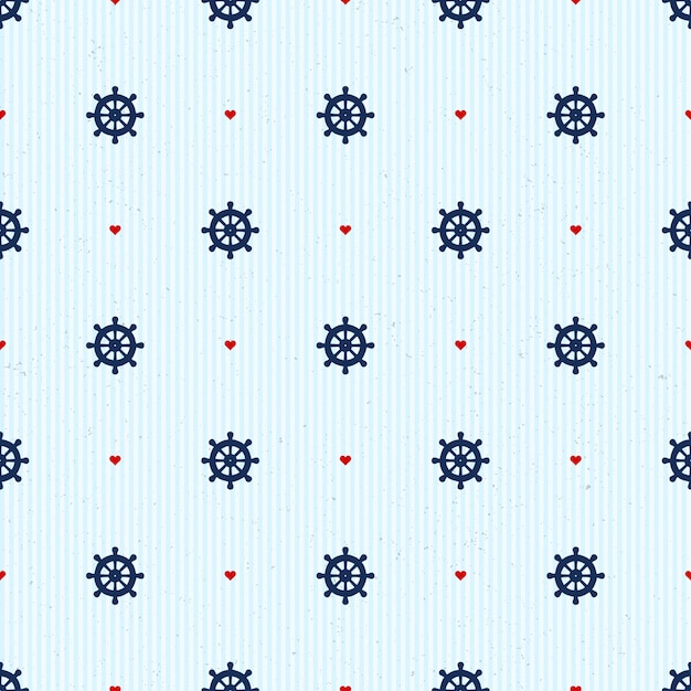 Seamless pattern with nautical elements Premium Vector
