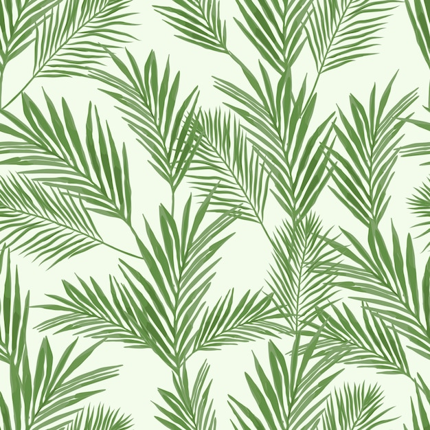 Seamless pattern with palm leaf Premium Vector