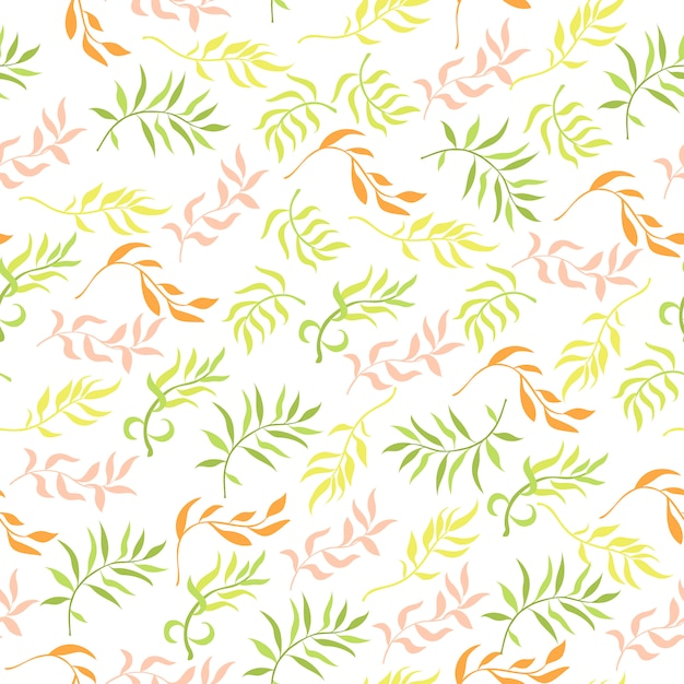 Seamless pattern with plant elements Free Vector
