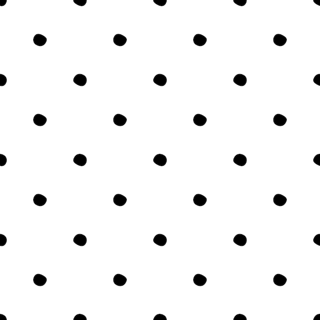 Seamless pattern with polka dot on white background. Premium Vector
