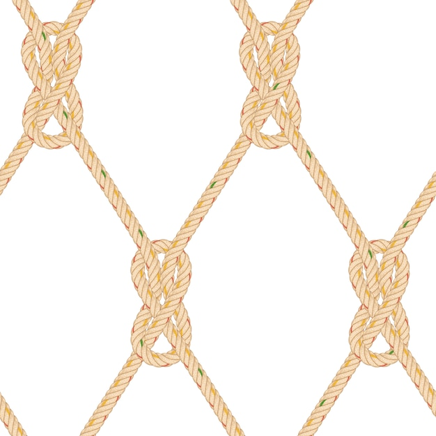 Seamless pattern with rope bending. Premium Vector