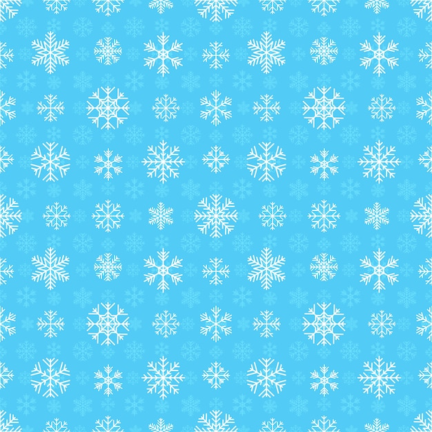 Seamless pattern with snowflakes Premium Vector