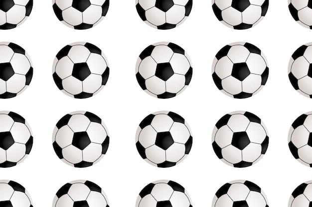 Бесшовный фон с футбольным мячом Premium векторы