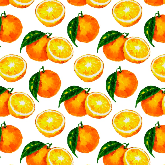 Бесшовные с акварелью цитрусовых: лимон, апельсин, грейпфрут Premium векторы