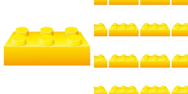 Seamless pattern with yellow blocks Premium Vector