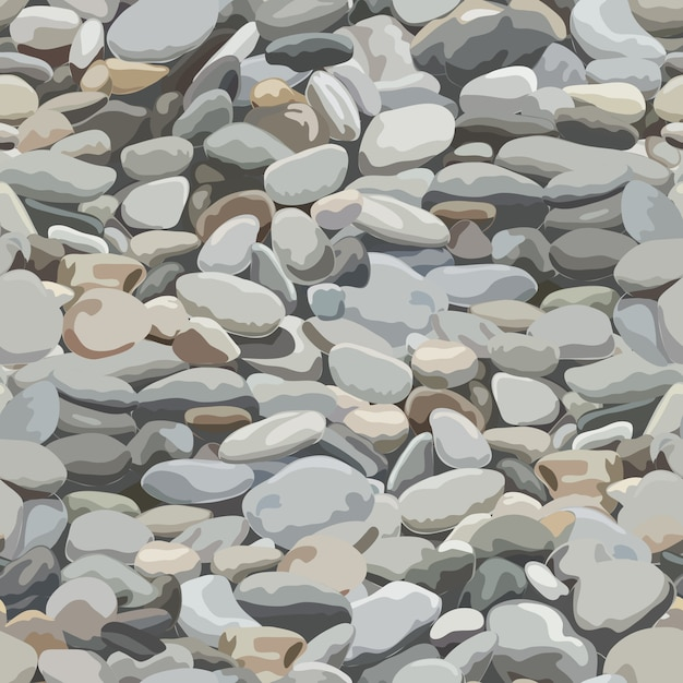 Seamless pebbles background for  and decorate. Premium Vector