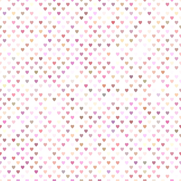 Seamless pink heart pattern background design Free Vector