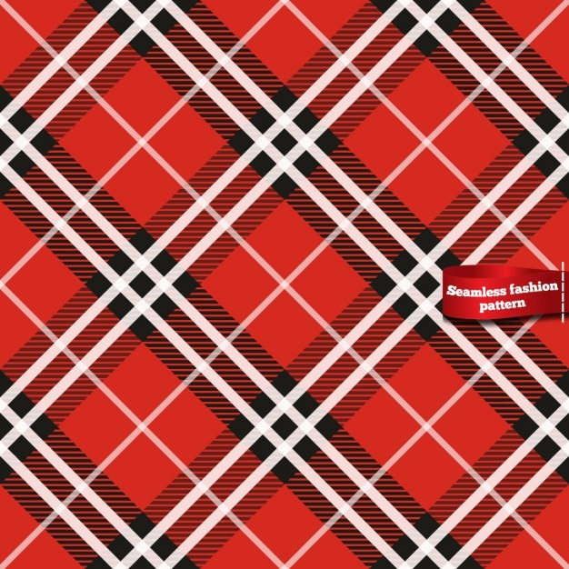 Seamless plaid pattern in red tones Free Vector