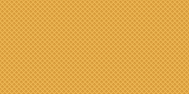 Seamless realistic wafer pattern Premium Vector
