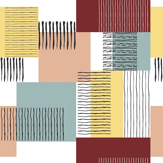 Seamless retro striped pattern Premium Vector
