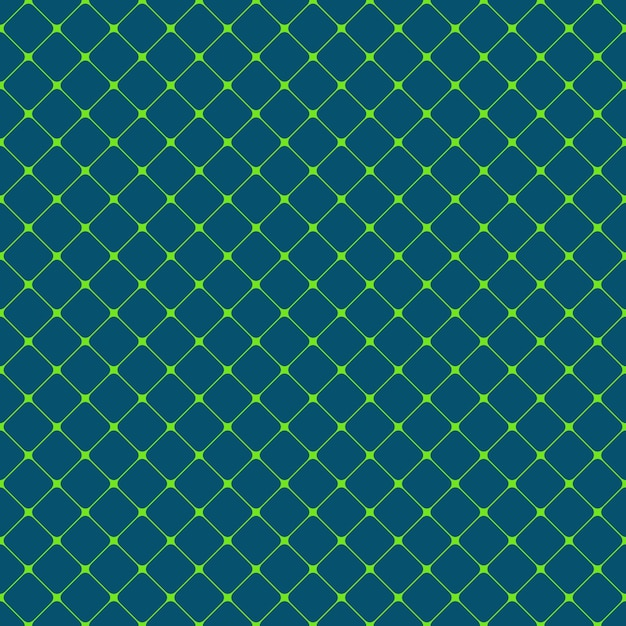 Seamless rounded square grid pattern background - vector design from diagonal squares Free Vector