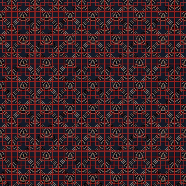 Seamless simple chinese pattern Premium Vector