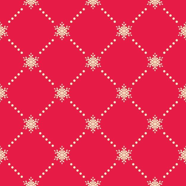 Seamless snowflakes pattern. Premium Vector