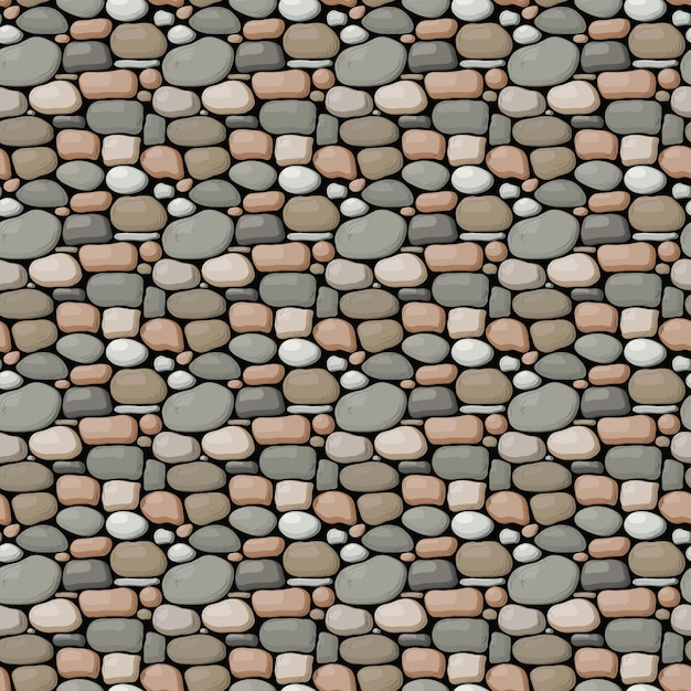 Seamless stone wall pattern Premium Vector