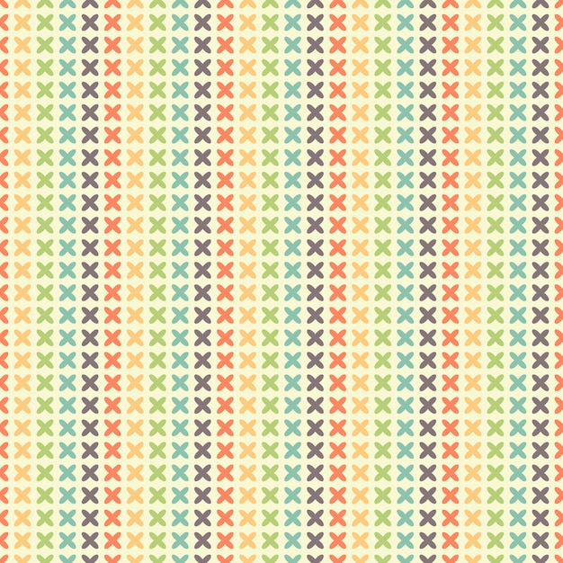 Seamless striped pattern of quatrefoils Premium Vector