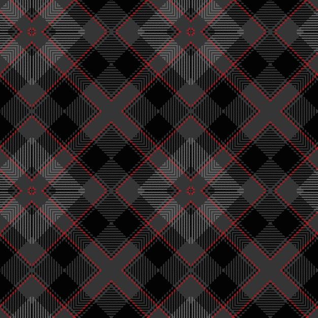 シームレスなタータンパターン。スコットランドの織りのテクスチャ。 Premiumベクター