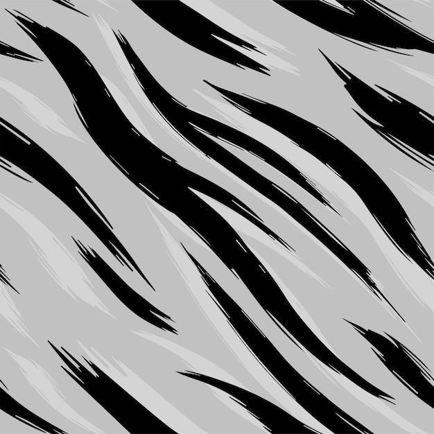 シームレステクスチャホワイトタイガースキン。パターン。 Premiumベクター