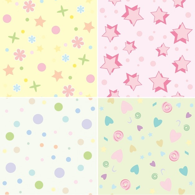 Seamless tile backgrounds with a childrens theme