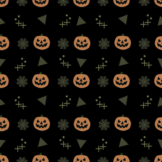 Seamless trendy halloween pattern Premium Vector