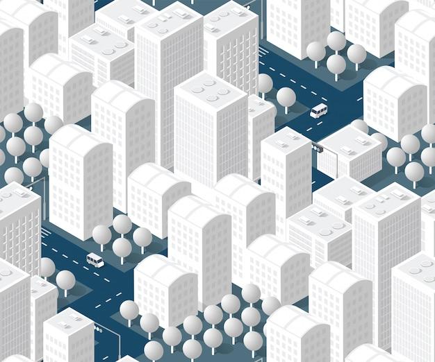 Seamless urban plan pattern Premium Vector