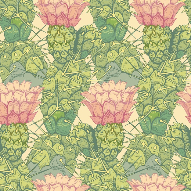 Seamless vector floral pattern. Premium Vector