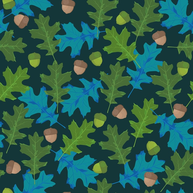 Seamless vector pattern with autumn leaves Premium Vector