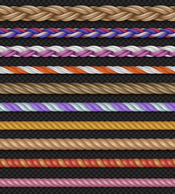 Seamless vector straight ropes Premium Vector