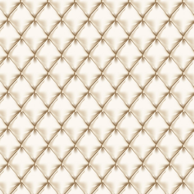 Seamless White Leather Texture With Buttons Premium Vector