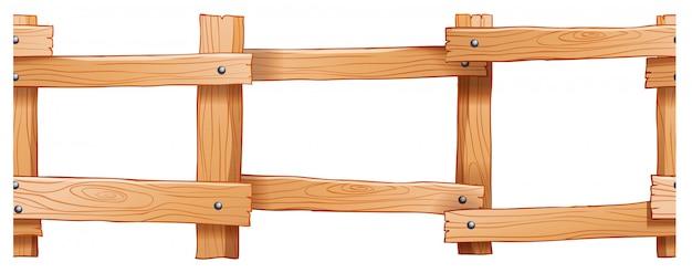 Design di recinzione in legno senza soluzione di continuità Vettore gratuito