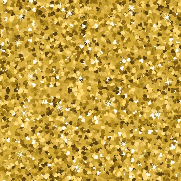 Seamless yellow gold glitter texture. Premium Vector