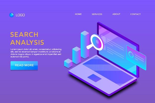 Search analysis Premium Vector