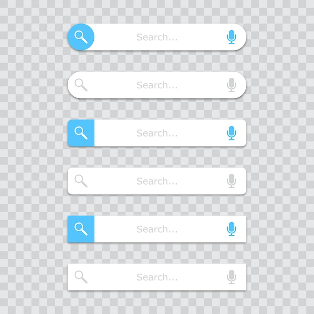 Search bar template in a flat  with shadow Premium Vector