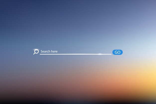 Search bar vector illustration on background of sky Premium Vector