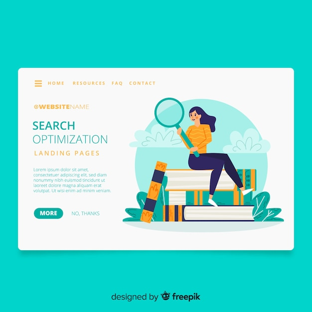 Search concept landing page Free Vector