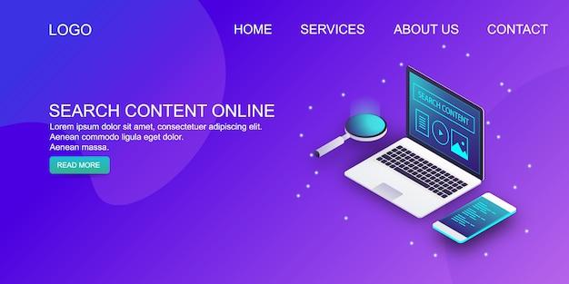 Search content Premium Vector