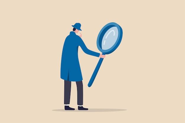 Найдите, обнаружите, проанализируйте отчет или проведите специализированное расследование Premium векторы