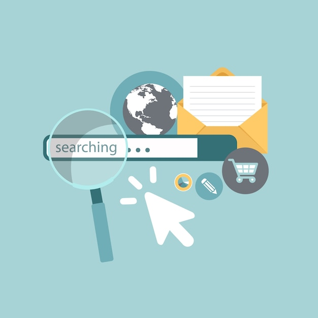 Search engine marketing concept Premium Vector