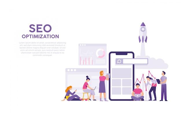 Search engine optimisation or seo Premium Vector