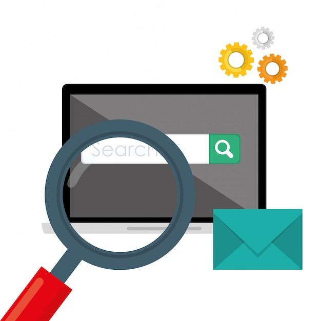 Search engine optimization design Premium Vector