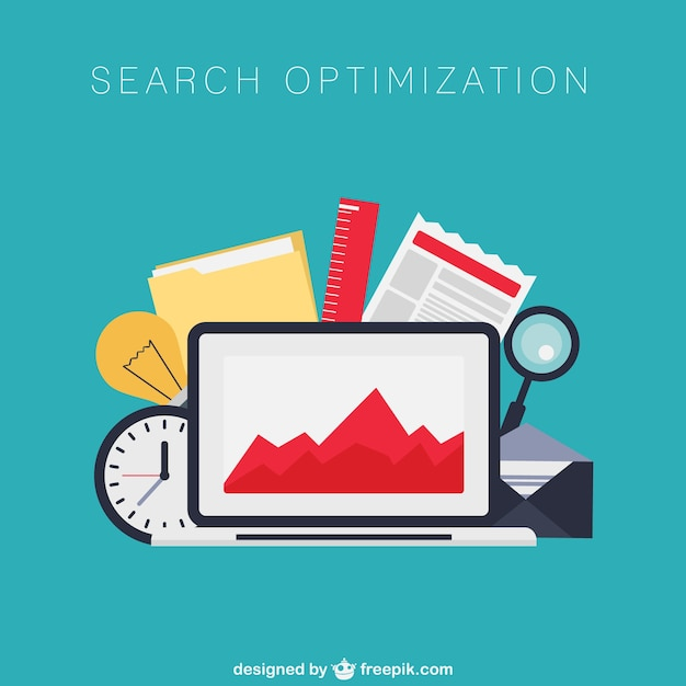 Search engine optimization vector Free Vector