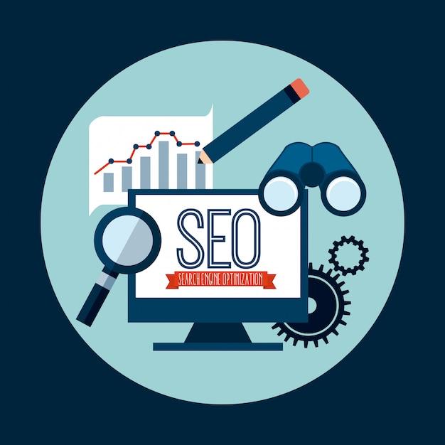 Search engine optimization Premium Vector