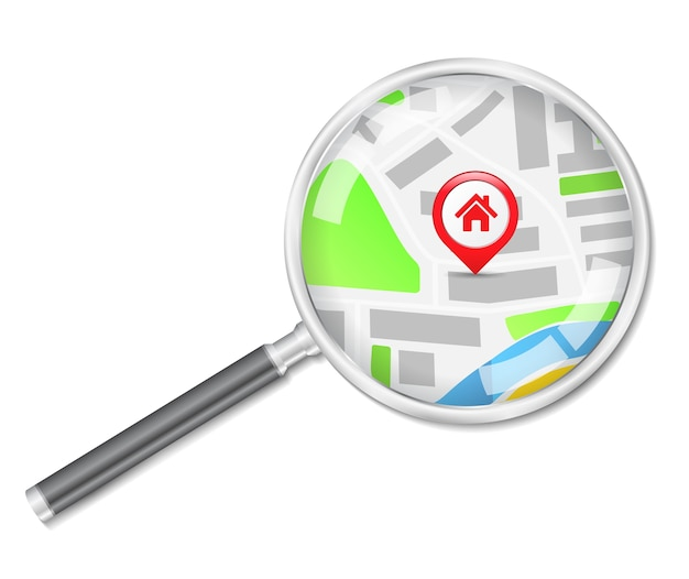 Поиск дома Premium векторы