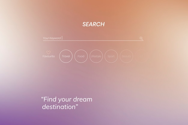 Search page design Free Vector