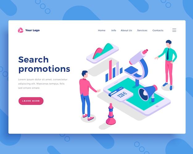 Search promotions concept Premium Vector