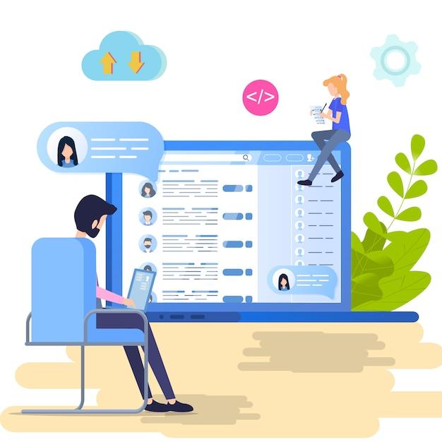 Search social personal profile vector illustration Premium Vector