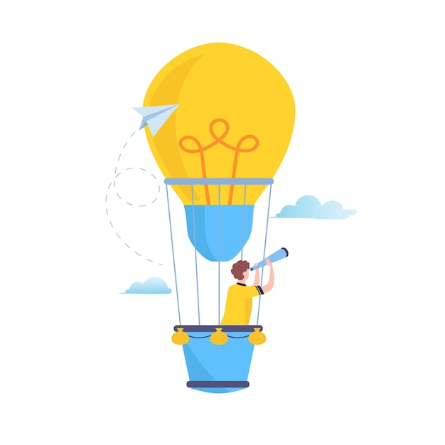 Search to big Idea Premium Vector